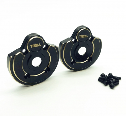 Treal Brass Outer Portal Covers Weights for Axial Capra UTB/SCX10 III